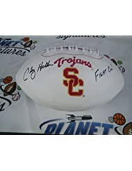 Clay Helton signed USC Southern Cal California Trojans logo football w  Fight On COA