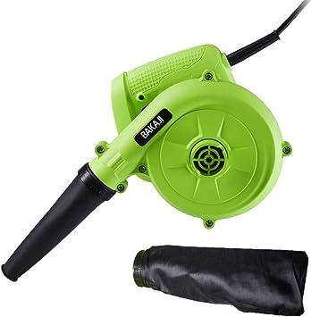 Bakaji - Aspirador eléctrico soplador soplador de hojas, mini aspirador de hojas, potencia 600 W, con depósito de recogida para mantenimiento de coche, casa, ordenador, espacios exteriores: Amazon.es: Bricolaje y herramientas