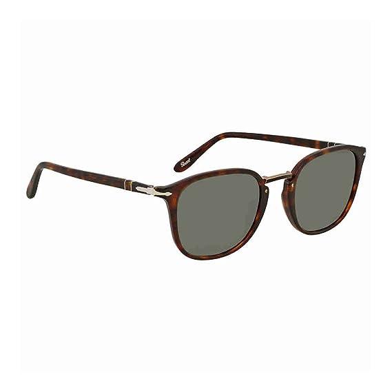 Persol Men s 0Po3186S 24 31 51 Sunglasses, Brown (Havana Green ... 7330f5d3448f