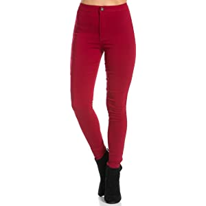db45a1f4ac366 SOHO GLAM Super High Waisted Stretchy Skinny Jeans in 10 Colors (S-XXXL)