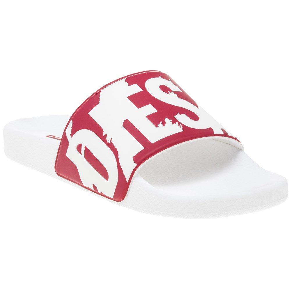 Diesel Men's a-Lohaa SA-Maral Slide Sandal, Formula One/White, 9 M US