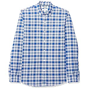 Amazon Brand - Goodthreads Men's Slim-Fit Long-Sleeve Plaid Oxford Shirt 22