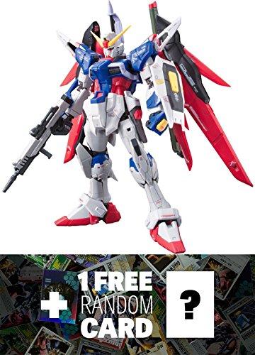 ZGMF-X42S Destiny Gundam: Gundam Real Grade 1/144 Model Kit + 1 FREE Official Gundam Japanese Trading Card Bundle [RG #011]