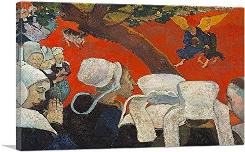 ARTCANVAS Vision After The Sermon Huile Sur Toile 1888 Canvas Art Print by Paul Gauguin - 18