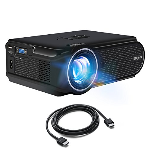 Laptop mini projector deeplee dp90 1600 lumens mini led for Small projector for laptop