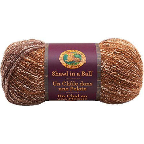Lion Brand Yarn LionBrand 828-303 Shawl in a Ball,Namaste Neutrals,