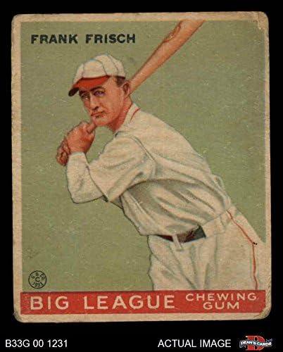 1933 Goudey # 49 Frankie Frisch St. Louis Cardinals (Baseball Card) Dean's Cards 2 - GOOD Cardinals 51Gdo36NqUL