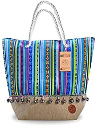 Beach Bags and Totes - Beach Tote - Large Beach Tote Bag for Women with Wristlet