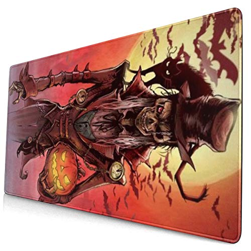 Tombstone Administrator Oversize Mouse Pad Desk Pad Long Non-Slip Rubber Stitched Edge Mouse Pad Durable Waterproof and Non-Slip Base Mouse Pad 15.8x29.5 in