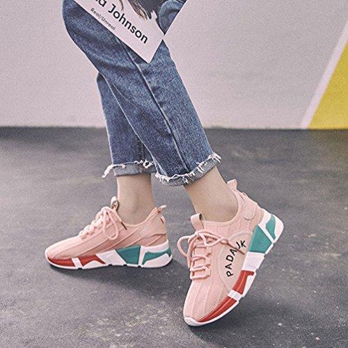 Zapatillas Rosa Running LFEU de Mujer Lona de U070qwdC