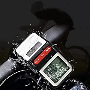 LEDMEI Bicycle Pedometer Odometer,Mother's Day Gift,Solar Power Speedometer Waterproof Cycle Bike LCD Display Auto ON/OFF Multifunction by