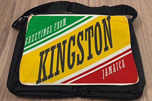 Borsa Tracolla Retro Arte Metropole Kingston Giamaica Stampato