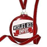 Christmas Decoration Worlds Best Umpire Ornament