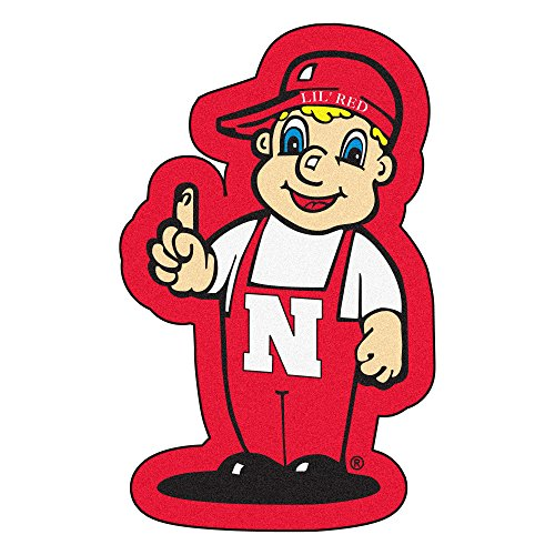 FANMATS NCAA University of Nebraska Cornhuskers Nylon Face Mascot Rug