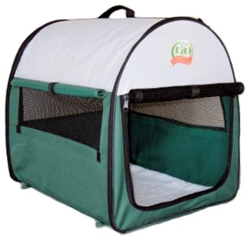 (Go Pet Club Soft Crate for Pets, 24-Inch, Green)