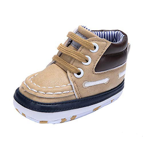 Specification Desert Boot - Delebao Infant Toddler Baby Lace Up Soft Sole High-top Suede Warm Sneakers Snow Boots (0-6 Months, Yellow)