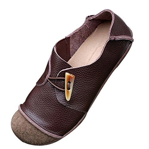 Mordenmiss Womens New Flat Toe Toe Shoes Style 1-coffee