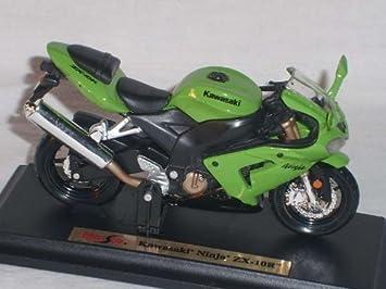 Kawasaki Ninja Zx 10R verde 1/18 Maisto Modelo Moto ...