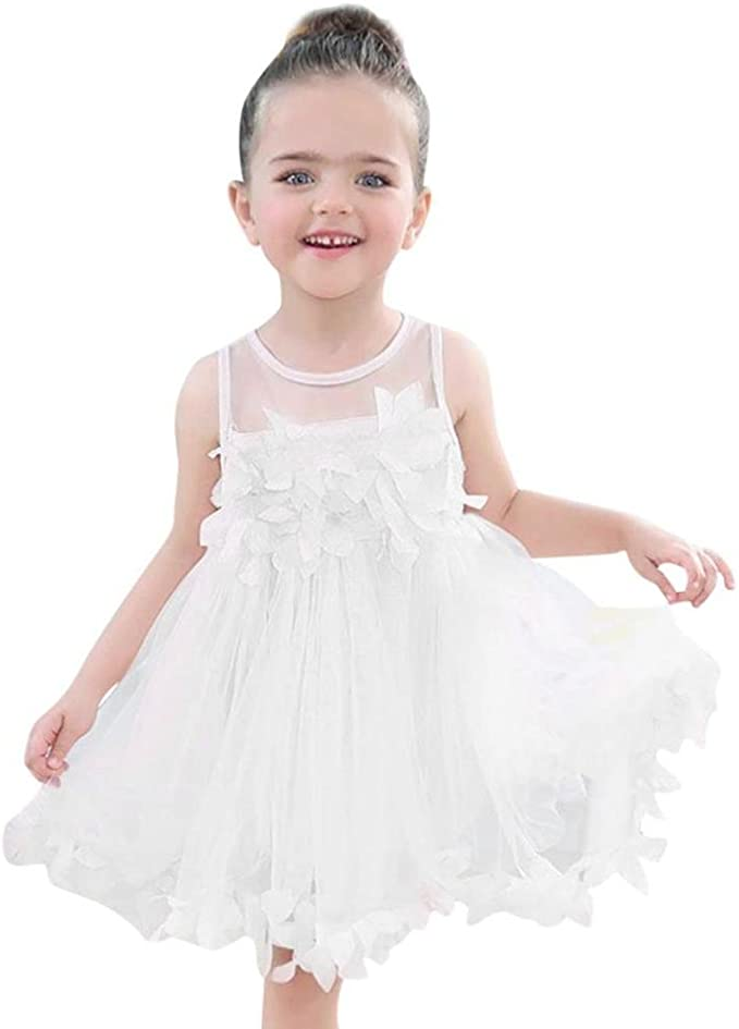 Amazon.com: Niños Bebé Niñas Sin Mangas Encaje Floral ...