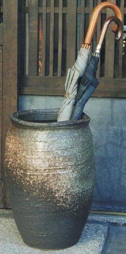 灰釉傘立 信楽焼 陶器 傘立て B00CM2RQ6A Parent