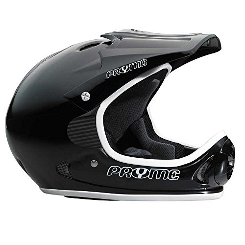 Pryme US Full Face Helmet, - LG / XL (57-62cm), Black/White, ()