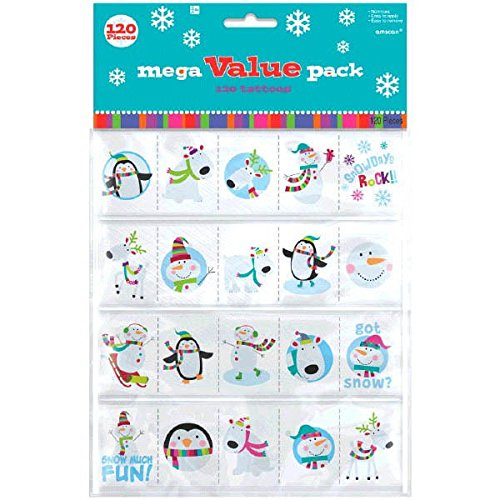 Christmas Tattoo Mega Value Pack, 120 Ct.   Assorted Colors   Party Favor
