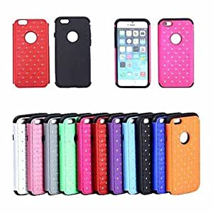 ZL PC + Silica Gel 3-in-1 Stars Diamond Shinny Shockproof Back Cover Case for iPhone 6 (Assorted Colors) , Green