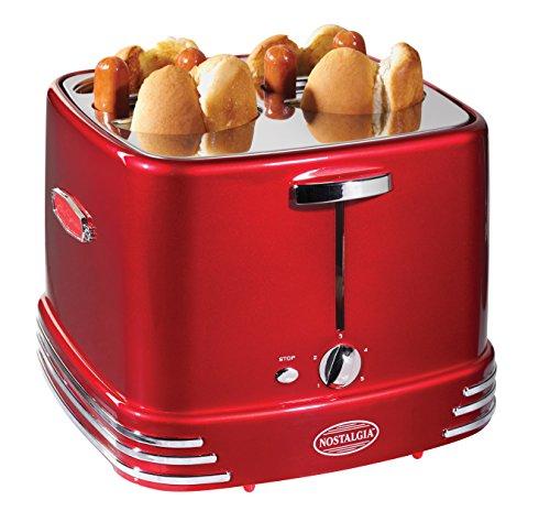 4 Dogs (Nostalgia RHDT800RETRORED Pop-Up Hot Dog Toaster)
