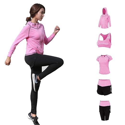 Lmycrs Conjunto de Yoga de la Mujer 5PC para Mujer Traje de ...