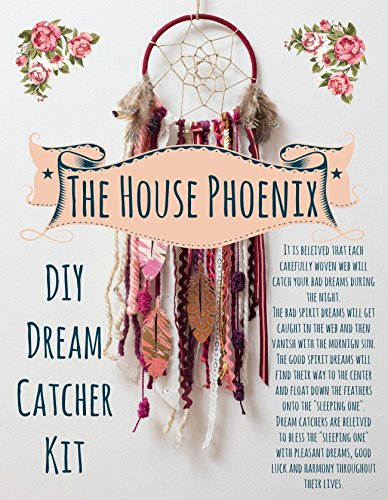 Creative Birthday Gift. Red DIY Dreamcatcher Kit. Make Your Own Craft Project or Birthday Gifts for Girls by The House Phoenix from The House Phoenix