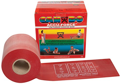 CanDo 10-5922 AccuForce Exercise Band, 50 yd Roll, (50 Yard Exercise Band)