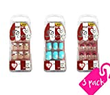 #8: Beautia 3 Pack So Cute Junior Nail for Kids 16601/16603/16604 (Sticker Nails)