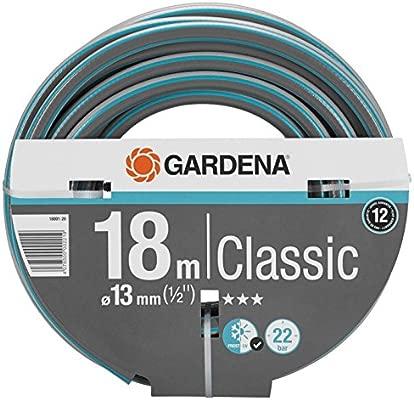 Gardena 18001-20 - Manguera de jardín (18 m, Gris, Naranja, Sólo mangueras, 22 bar): Amazon.es: Jardín