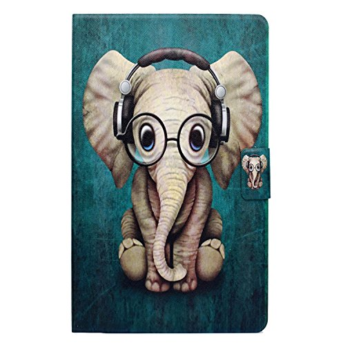 Kindle Fire HD 8 Case, Gift-Hero(TM) 360 Degree Rotating PU Leather Folio Flip Cover Stand Protective Skin Case for Amazon Kindle Fire HD 8 6th, 2016 Release (Cute Cartoon Elephant) by Gift-Hero