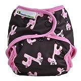 Best Bottom Cloth Diaper Shell-Snap, Pink Giraffe