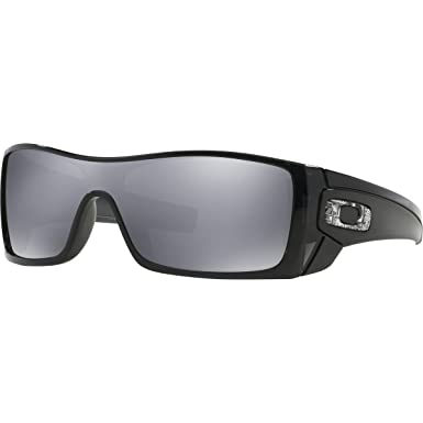 68ad097a19 Oakley - Lunette de soleil Batwolf-Nonpolarized Enveloppante - Homme,  Black/Black Iridium