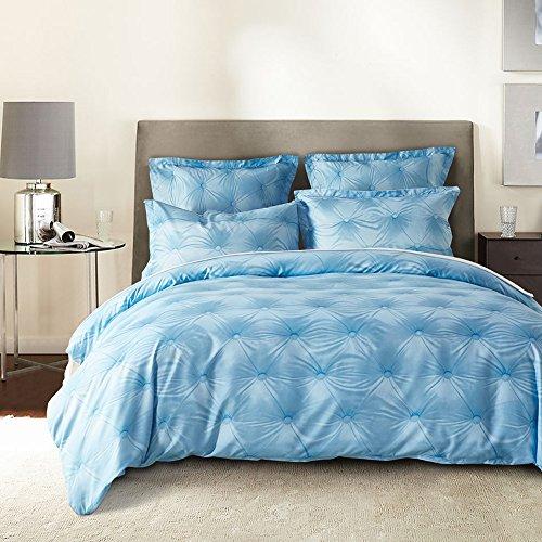 Cover Pillow Case Set Blue Pattern Lightweight Hypoallergenic Microfiber (Count Raw Linen)