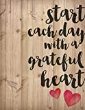 Start Each Day with a Grateful Heart 16 x 12 Wood Pallet Design Wall Art Sign Plaque