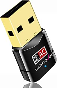 USBNOVEL USB WiFi Adapter-Dual Band 2.4G/5G WiFi Dongle 802.11 ac Mini Wireless Network Card 600Mbps with High Gain Antenna for PC Laptop Desktop Windows XP/Vista / 7-10 Mac