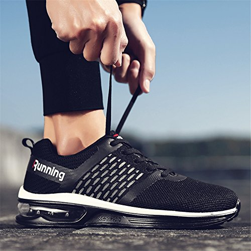 Jogging Shoes Cushion Running Women's Black Air Outdoor Sneakers Men's Sport awZBqSF