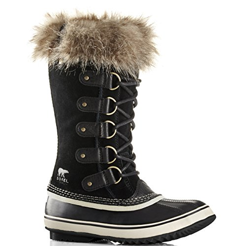 Womens Sorel Joan Of Arctic Walking Snow Winter Hiking Waterproof Boots - Black, Stone - 9