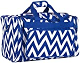 Ever Moda Chevron Medium Duffle Bag (Royal Blue)