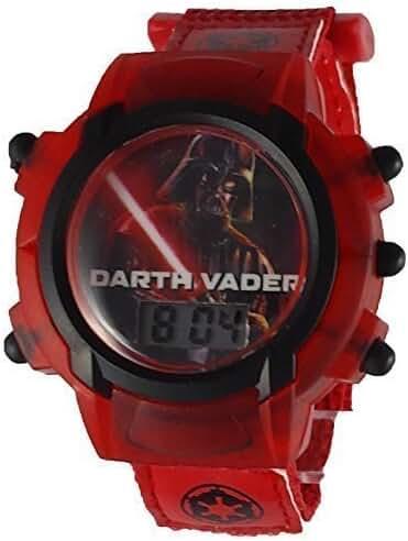 Star Wars Darth Vader Kid's Velcro Light Up Watch DAR3577