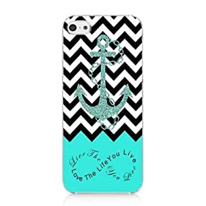 Diy iPhone 6 plus S9Q Anchor Chevron Retro Vintage Tribal Nebula Pattern Hard Case Cover Back Skin Protector For Apple iPhone 6 plus Style C Blue (te76)