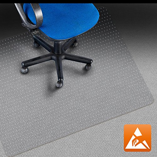 "Office Marshal Anti-Static Carpet Floor Office Chair Mat - 100% Polycarbonate - 36"" x 48"" - Clear & High Strength - Performa Series - Multiple Sizes -  4058171167202"