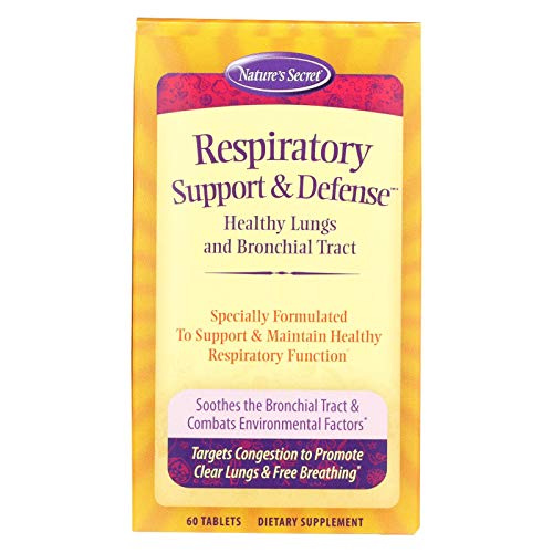 - Nature's Secret Respiratory Cleanse and Defense - 60 Tablets - Healthy Lungs and Bronchial Tract