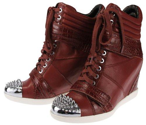(Boutique 9 Nevan Women's Wedge Sneaker (US 6.5, Wine))
