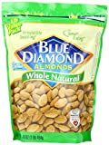 Blue Diamond Almonds, Whole Natural, 16 Ounce (Pack of 2)
