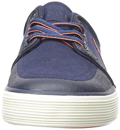 Polo Ralph Lauren Hombre Faxon Low Nubuck Fashion Sneaker Newport Navy