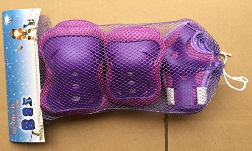 Review IMPORX Kid's Sports Protective Gear Safety Pads Safeguard, 2 Set Knee Pads Elbow Pads Wrist Pads (Purple)